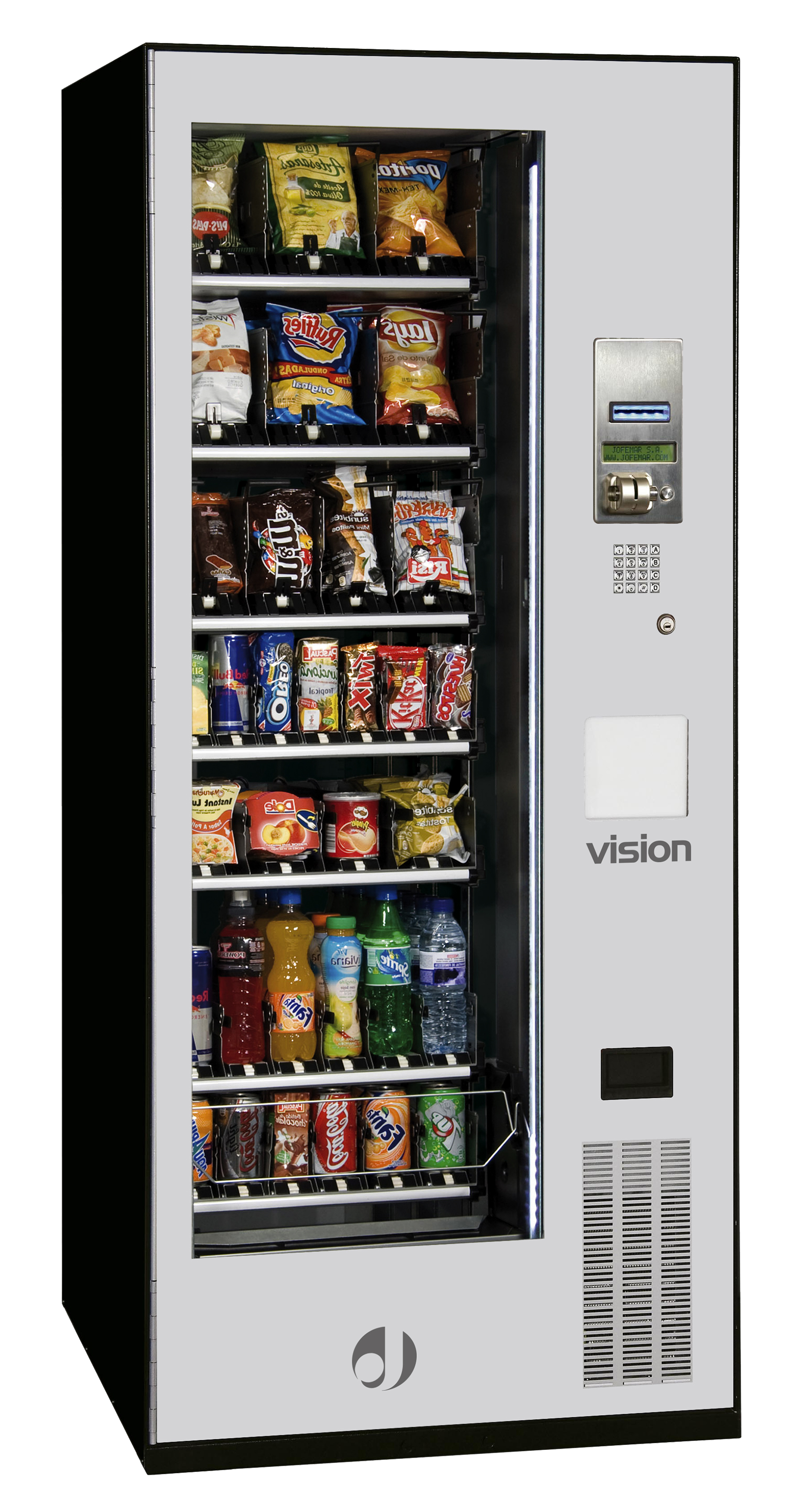 snacks and cold drinks vending machines | Jofemar